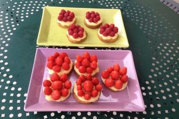raspberry and strawberry tart